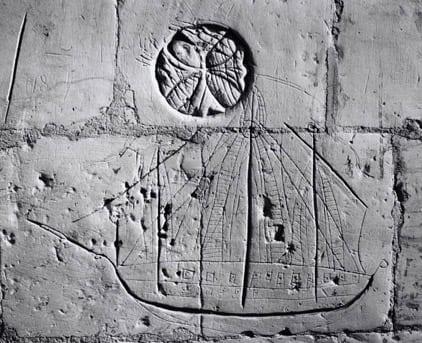 A ship graffito