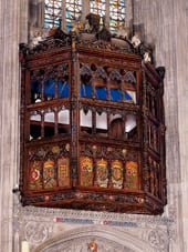 The oriel window built for Katherine of Aragon