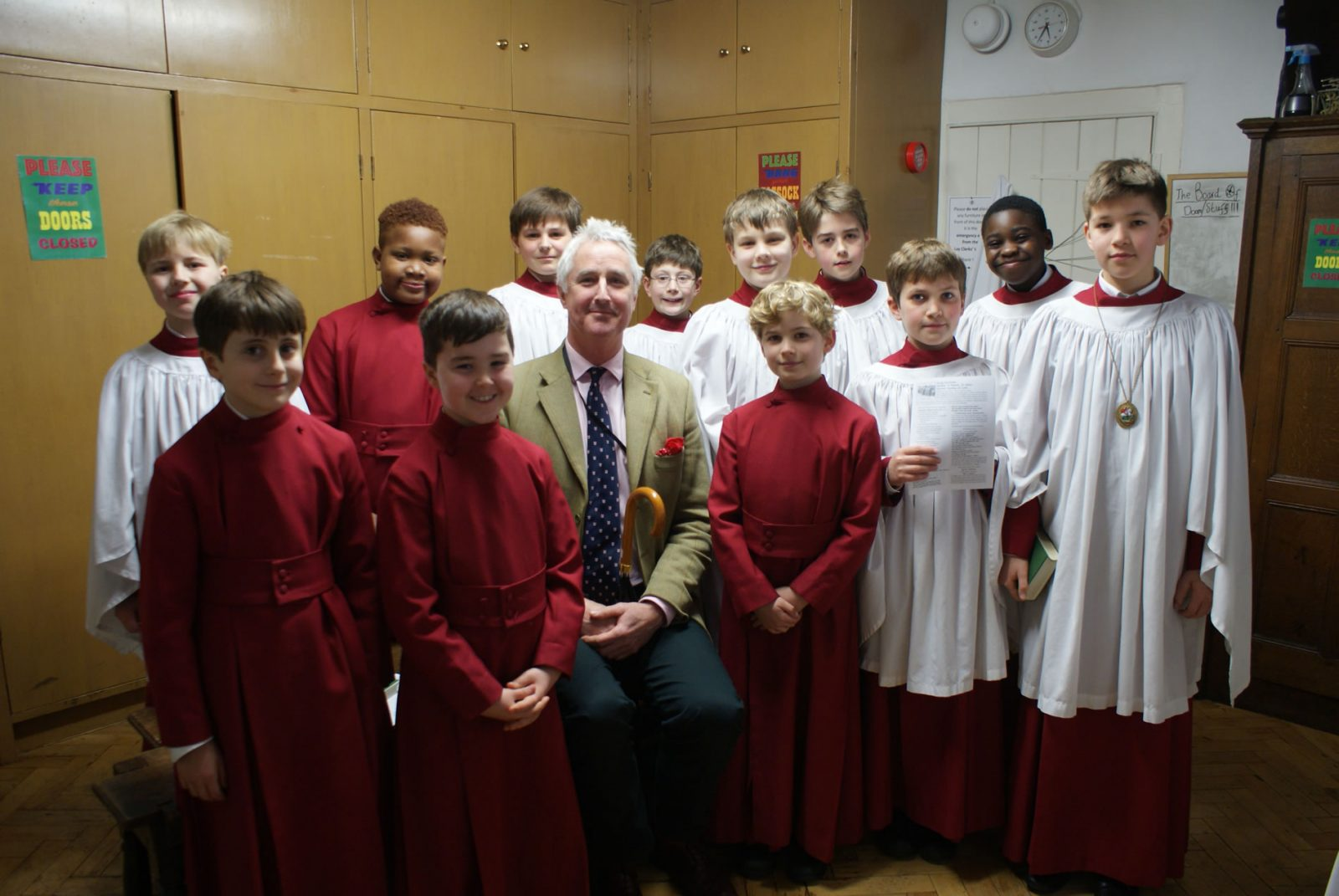 Choristers in the vestry