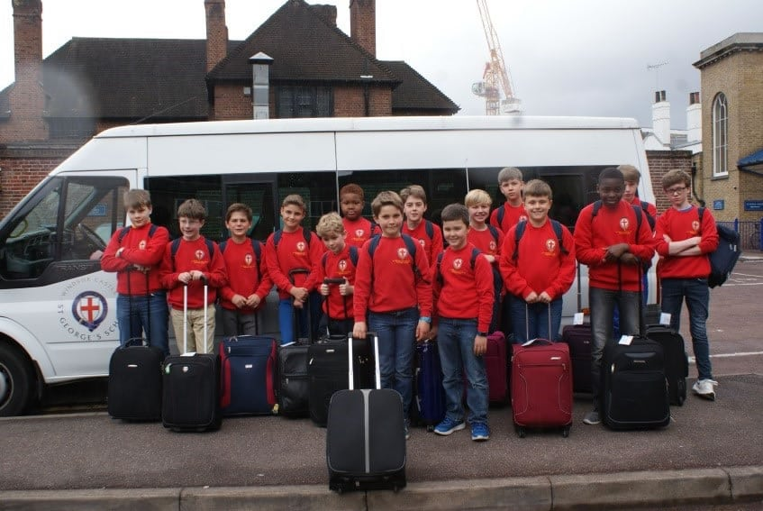 Choristers about to leave for The Netherlands