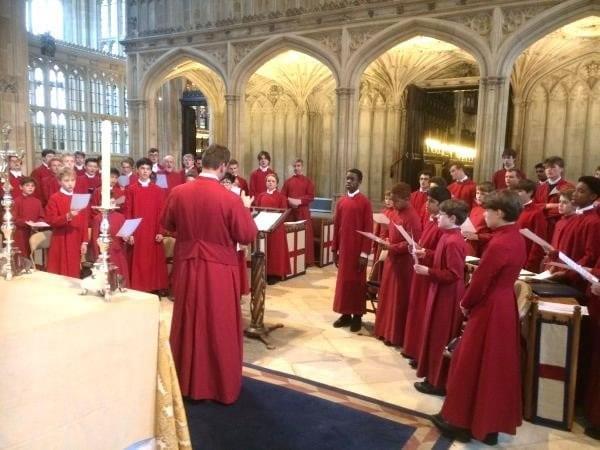 Choir rehearsal with Eton College