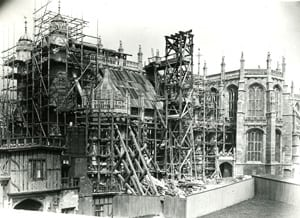 Scaffolding around the Chapel