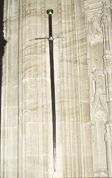 The sword of King Edward III