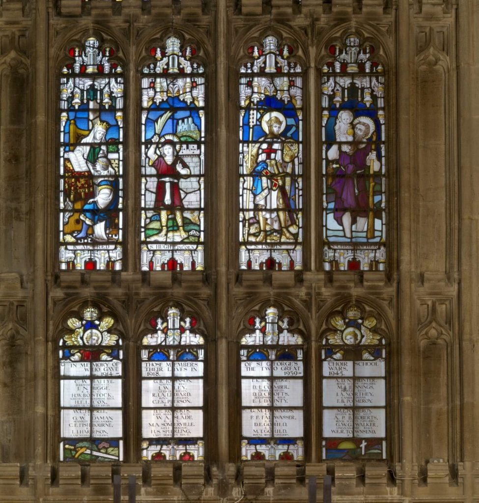 War Memorial Window above North door © Dean and Canons of Windsor [8050616 SGC War Memorial window ROY_260416_ 007]
