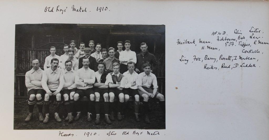 St George's School Old Boys' Football 1910