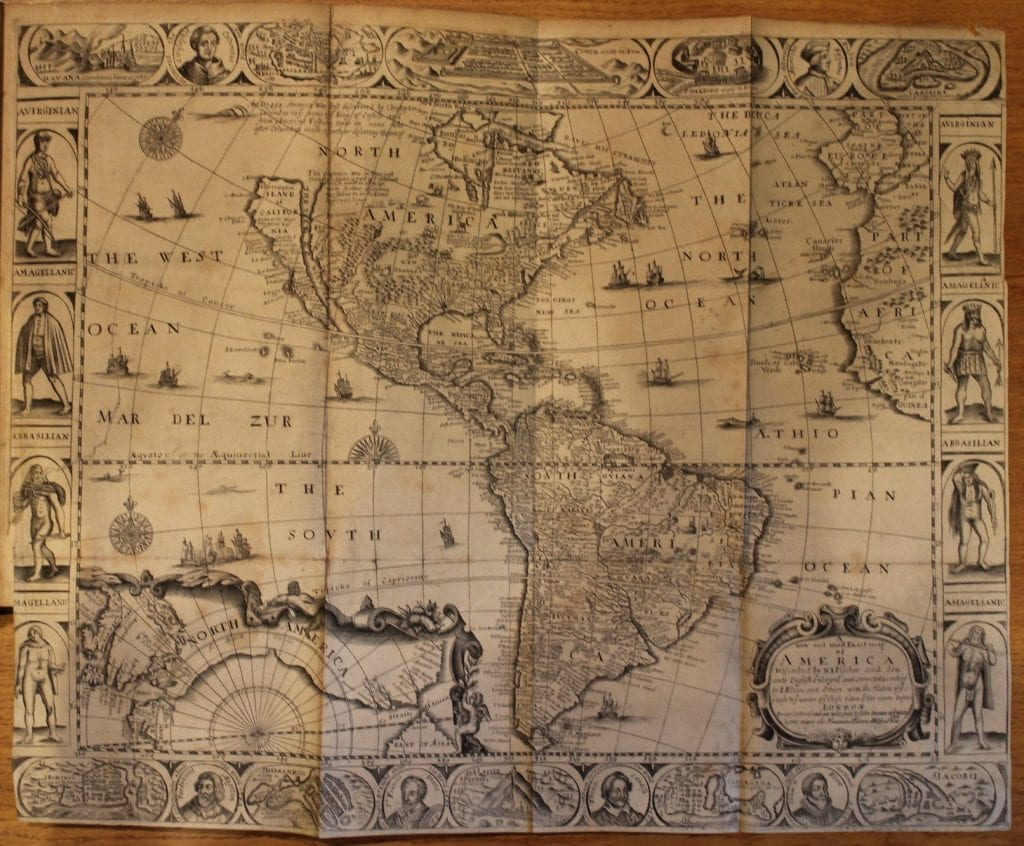 Map of America printed in 'The Merchants Map of Commerce' (London, 1671)