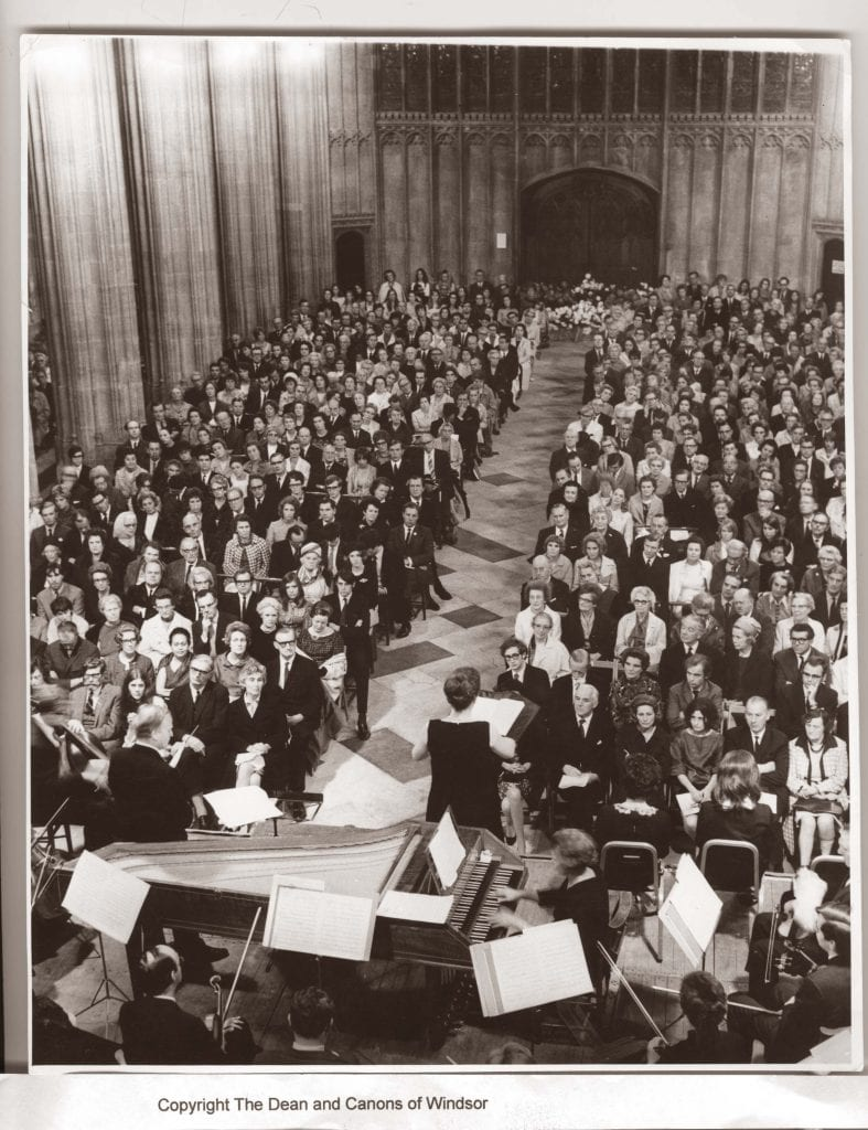 Photograph of a St George's Chapel Windsor Festival concert 1969