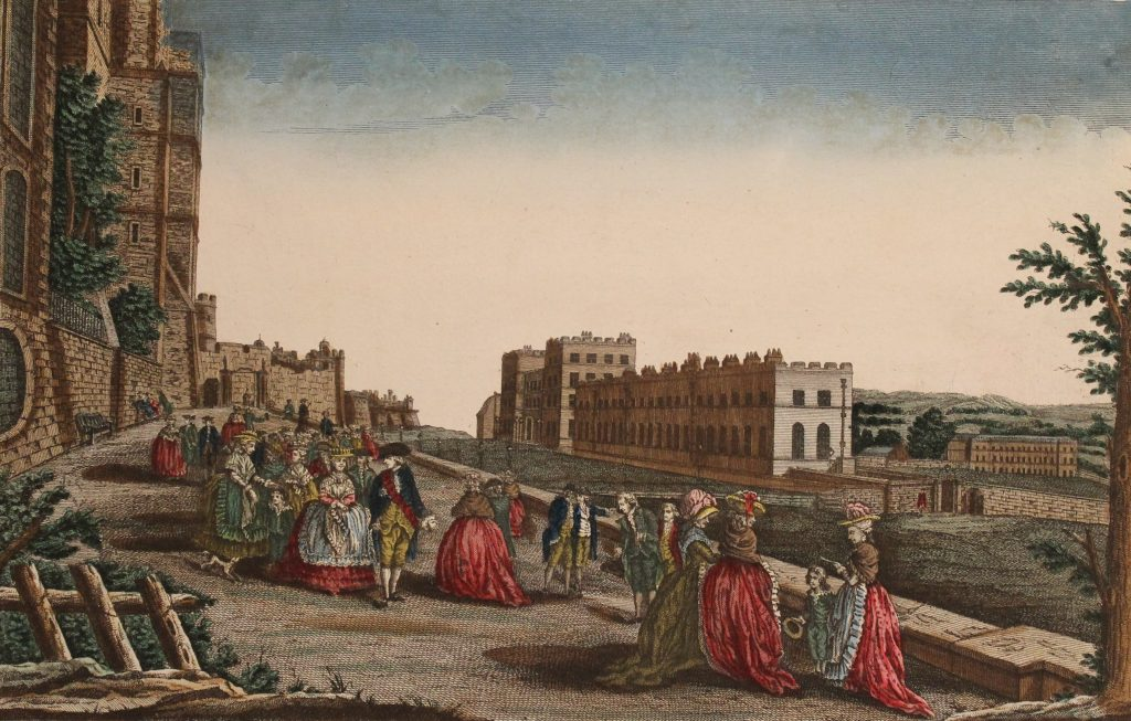 Image of the Month depicting George III and family walking at Windsor Castle